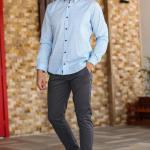 Men's Pocketed Navy Blue Pants