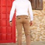 Men's Brown Fabric Pants