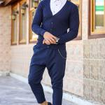 Men's Chain Navy Blue Pantalettes
