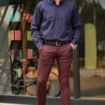Men's Claret Red Pants