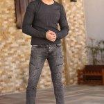 Men's Pocket Anthracite Jeans
