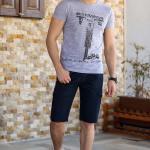 Men's Pocket Navy Blue Shorts
