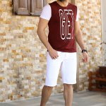 Men's Pocket Patched White Shorts