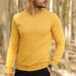 Men's Crew Neck Yellow Sweatshirt