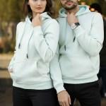 Unisex Hooded Light Mint Green Sweatshirt