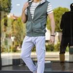 Men's Khaki 3 Piece Sweat Suit
