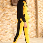 Men's Hooded Mustard Sweat Suit