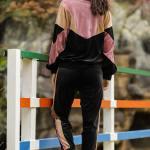 Women's Black Velvet Sweat Suit