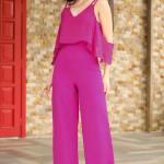 Women's Strappy Fuchsia Overalls