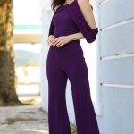Women's Glitter Purple Overall
