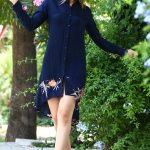 Button Navy Blue Tunic & Dress