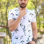 Men's Printed White T-shirt