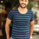 Striped Dark Navy Blue T-shirt