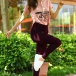 Women's Long Purple Tights