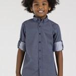Dotted Navy Blue Shirt