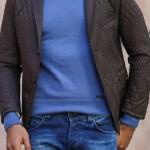 Men's Slim Fit Quilted Blazer Jacket