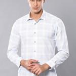 Men's Plaid Ice Blue Shirt