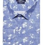 Men's Floral Pattern Blue Shirt