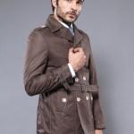 Men's Wrap Brown Trenchcoat