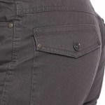 Men's Flap Pocket Khaki Suede Pants