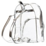 Women's Zipped Transparent Backpack