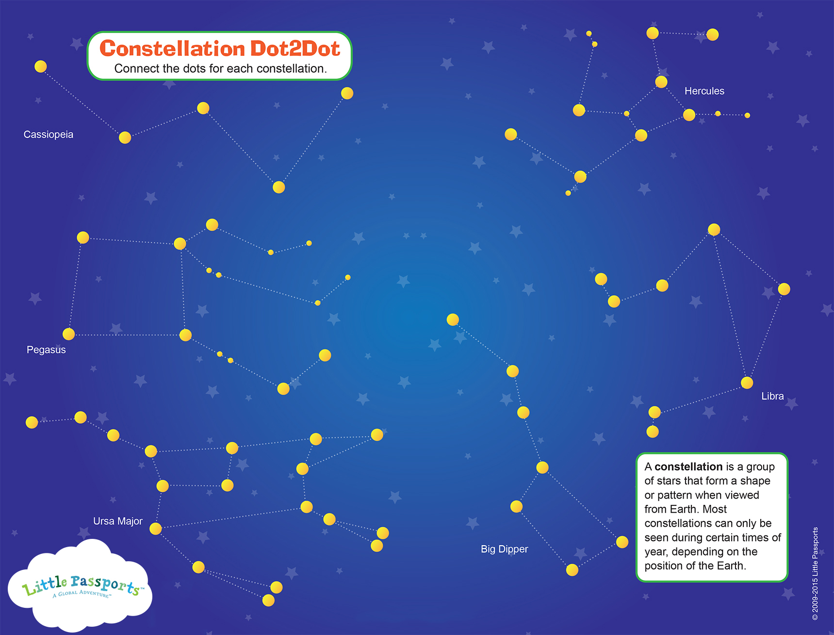 Free Constellation Activity Sheet For Kids