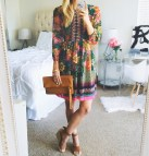 Summer Wedges Dress Selfie