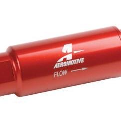 aeromotive 3 8 in npt 40 micron ss series red fuel filter p n [ 1500 x 1149 Pixel ]
