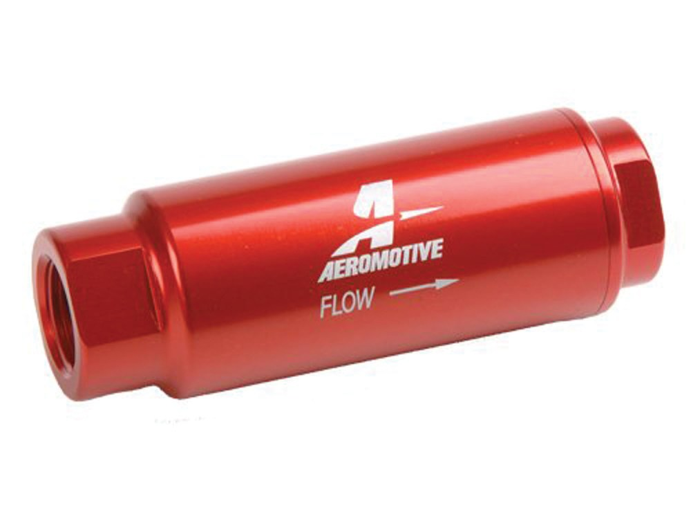 medium resolution of aeromotive 3 8 in npt 40 micron ss series red fuel filter p n