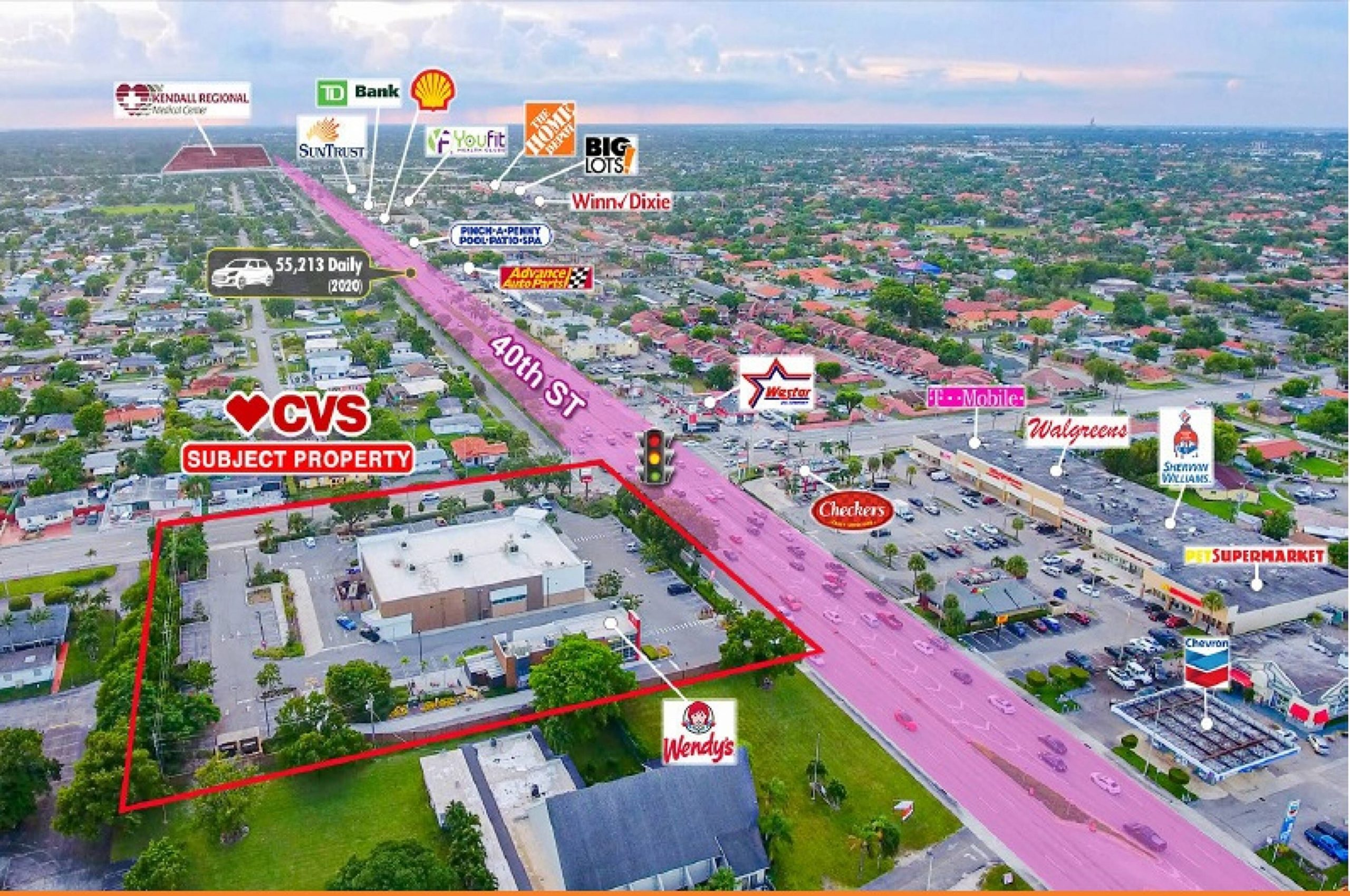 CVS NNN Property for Sale Miami Aerial Photo