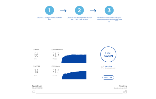 small resolution of voip speed test results