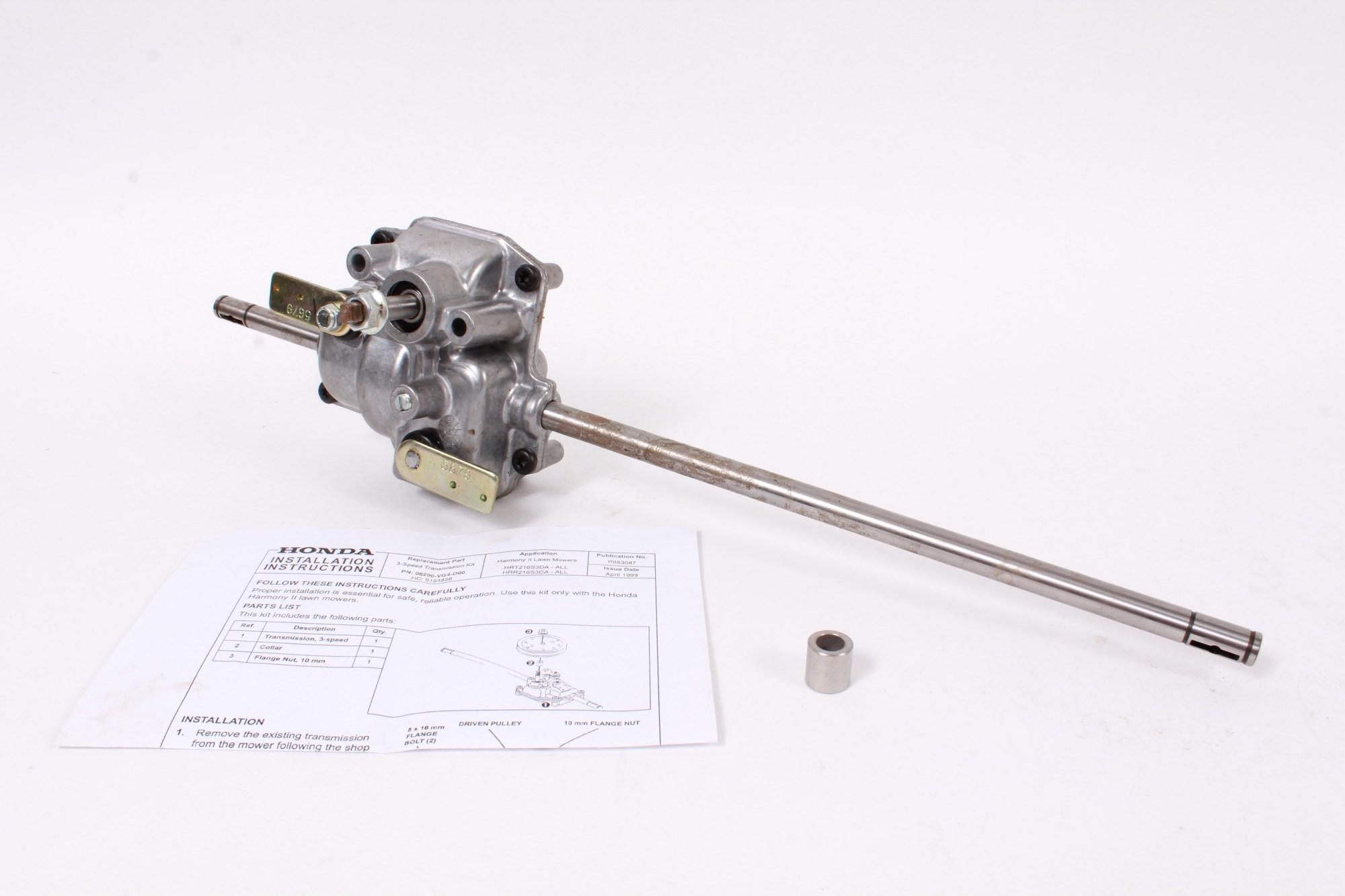 hight resolution of genuine honda 06200 vg4 d00 transmission fits specific hrr216 hrt216 oem