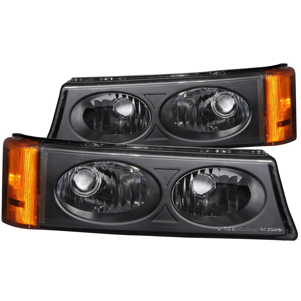 medium resolution of details about fits 03 06 chevrolet silverado hd parking signal lights w clear lens black