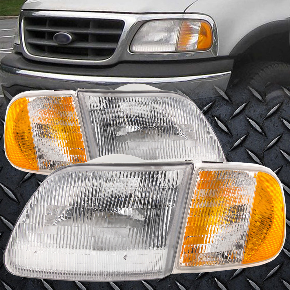 hight resolution of details about for 97 03 f150 04 heritage 97 02 expedition headlights with corner lights 4pc