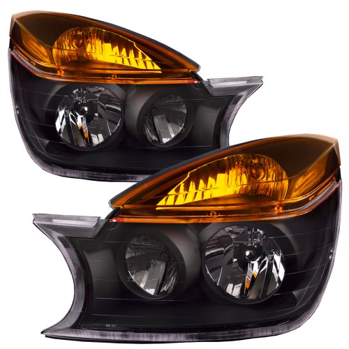small resolution of details about headlights set halogen black housing for 2002 2003 buick rendezvous