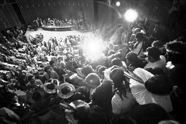 Plenário da Câmara dos Deputados durante Assembleia Nacional Constituinte