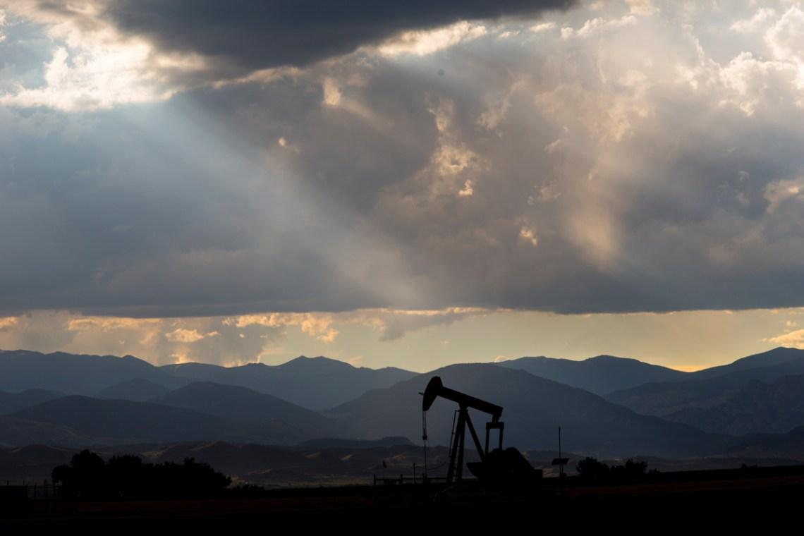 Bomba extractora utilizada en la técnica de fracking en Estados Unidos © Les Stone