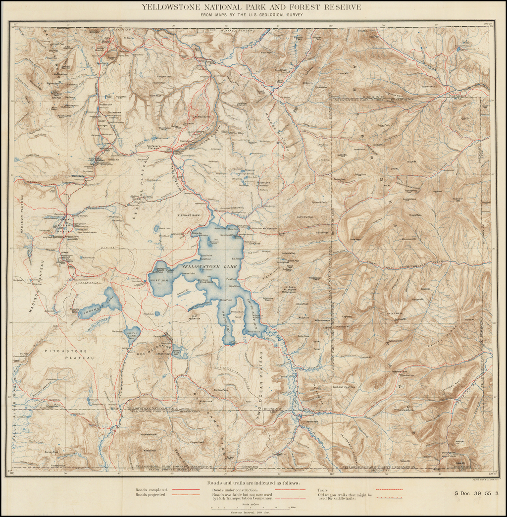 'yellowstone' fans know that getting branded on the dutton ranch is a big deal, so why do they brand some cowboys and not all? Yellowstone National Park And Forest Reserve From Maps By The U S Geological Survey Barry Lawrence Ruderman Antique Maps Inc