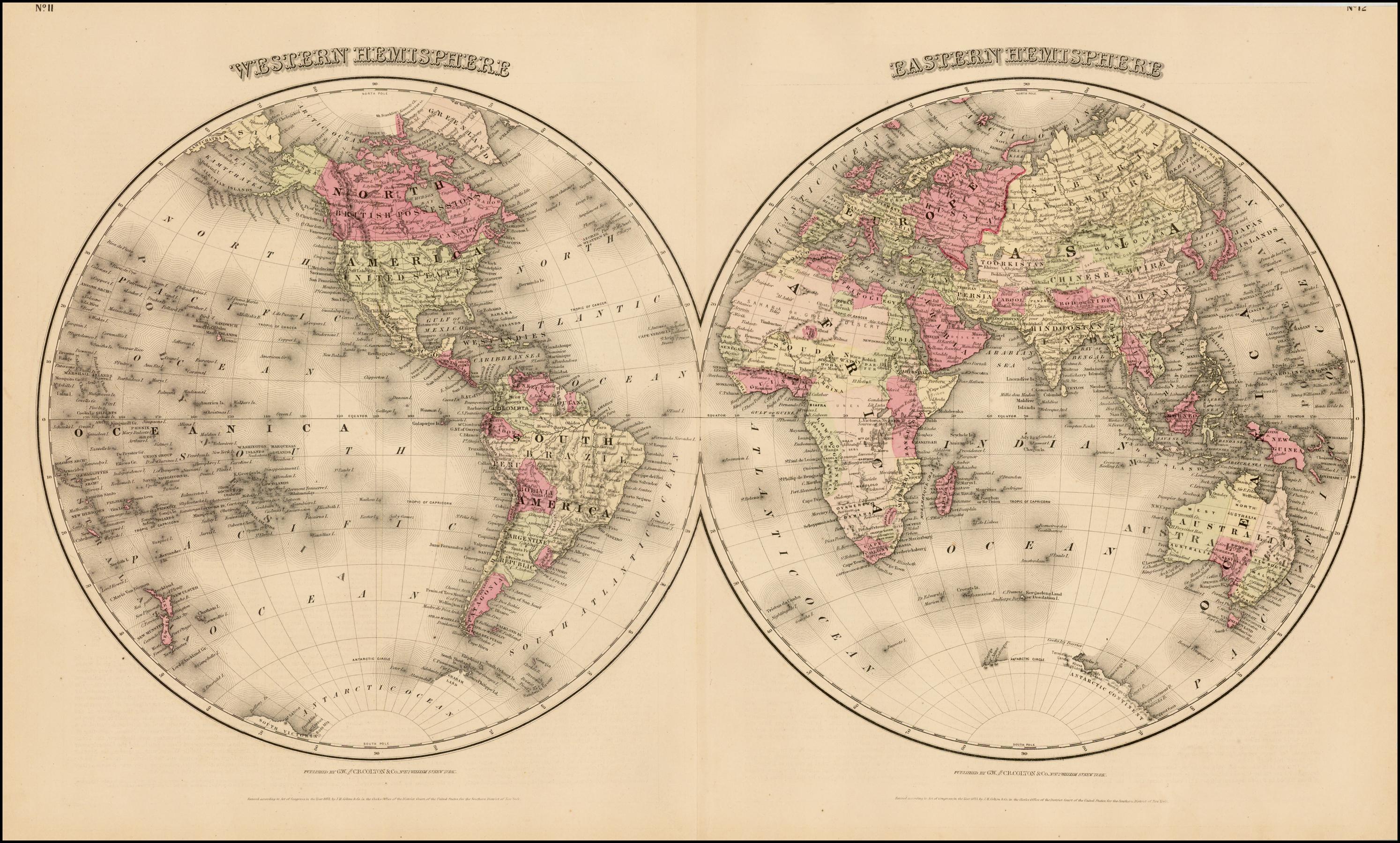 Western Hemisphere With Eastern Hemisphere