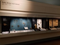 Celtic display of Ireland and Britain artifacts