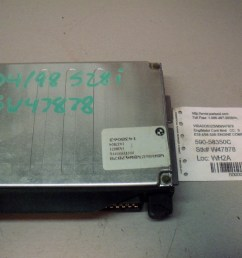 oem 97 1997 98 1998 bmw 528i engine computer control module ecu dme 1 437 804 [ 1280 x 960 Pixel ]