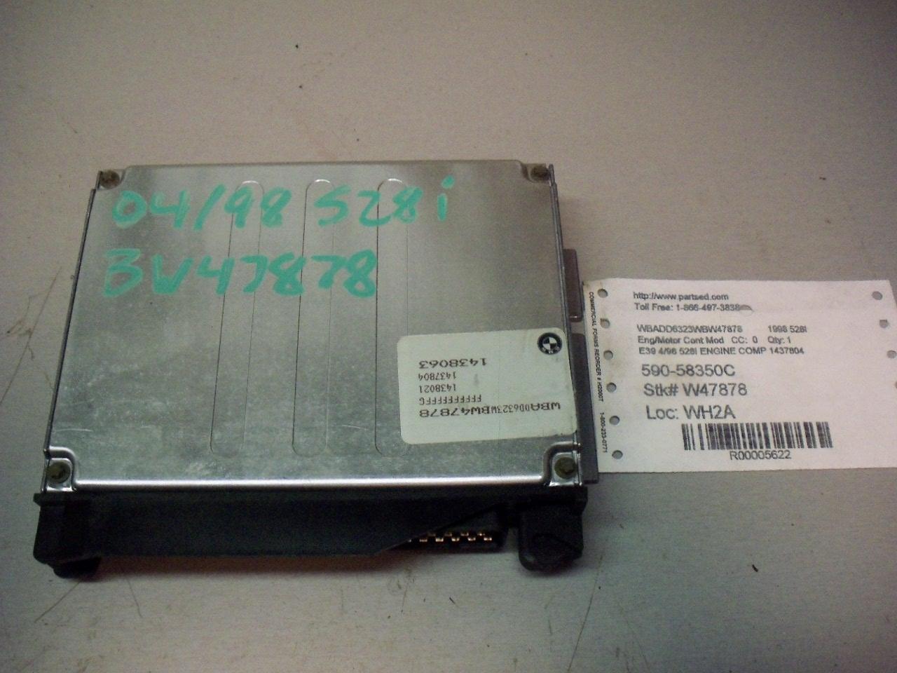 hight resolution of oem 97 1997 98 1998 bmw 528i engine computer control module ecu dme 1 437 804