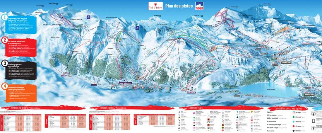 Val D'isere Piste Map