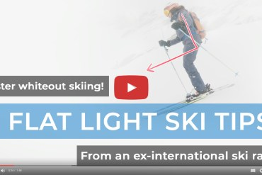 Flat light: 4 tips to master skiing in a whiteout – Video