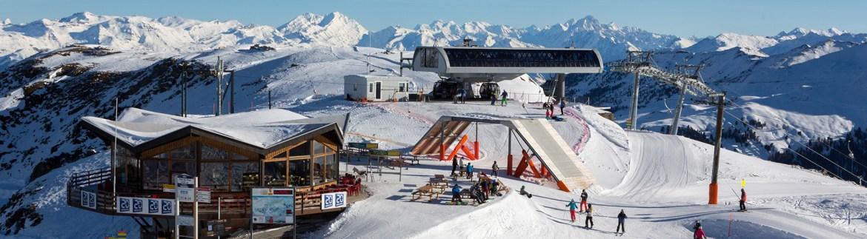 Ski lift station in Nendaz