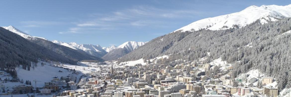 The village of davos and its ski area