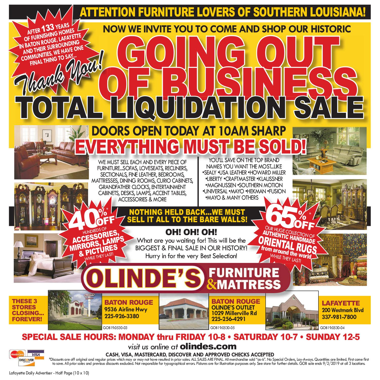 Liquidation World Flyer Local Directories Olinde S Furniture Lafayette