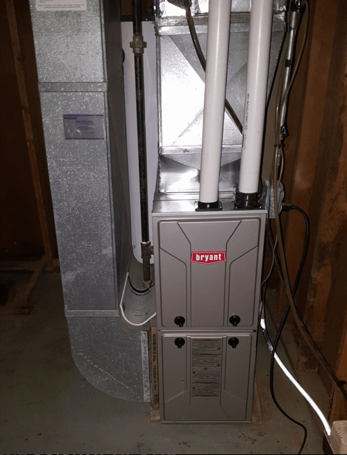 small resolution of installed new bryant 96 2 stage furnace