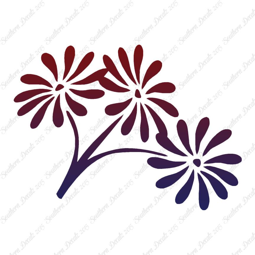 Daisy Bouquet Flowers Vinyl Decal Sticker Multiple