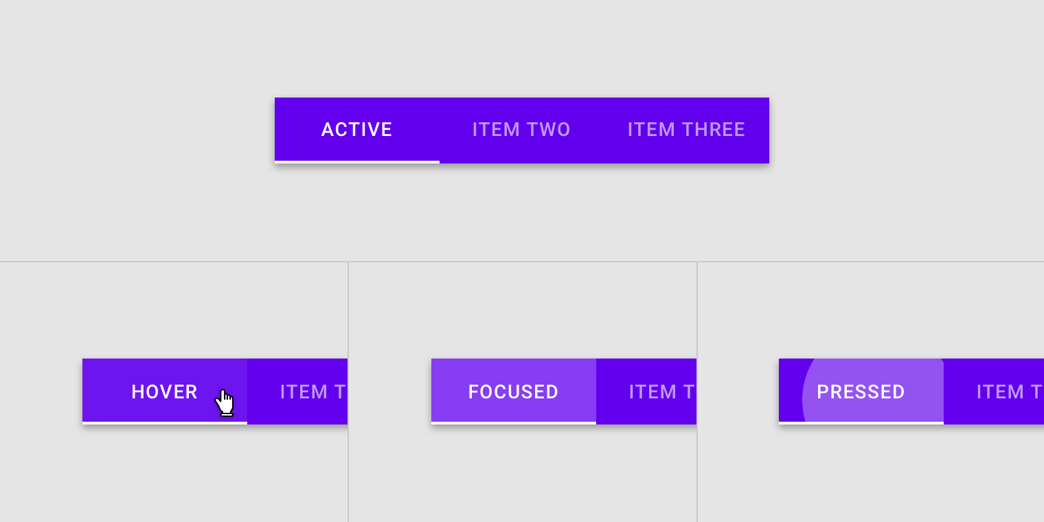 tabs material design
